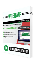 Webinar Benchmarking Essentials
